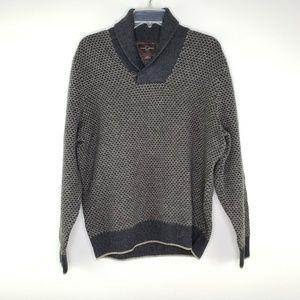 Black Brown 1826 Men's Wool Blend Gray Print Sweat